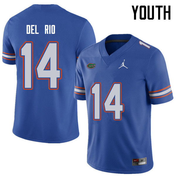 Jordan Brand Youth #14 Luke Del Rio Florida Gators College Football Jerseys Sale-Royal